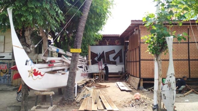 Proses pembangunan Nusa Pustaka